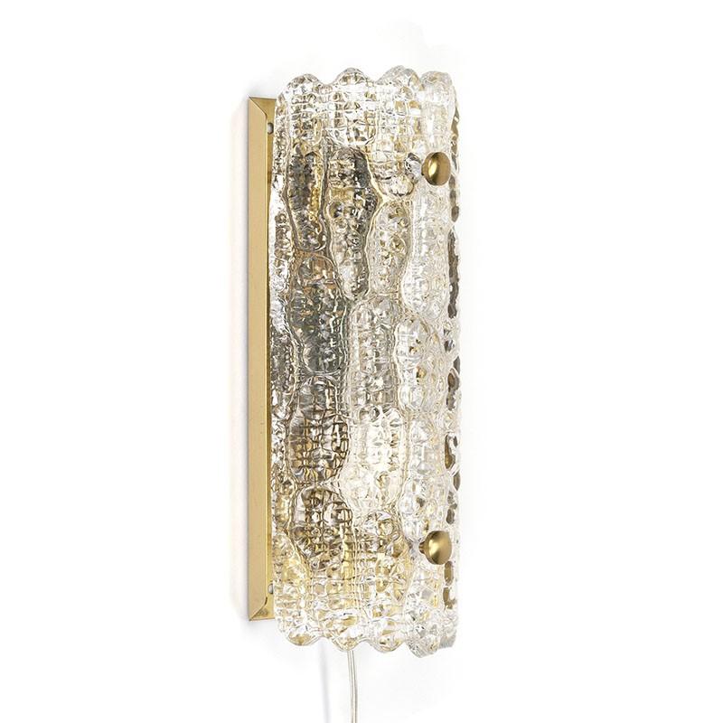 Carl Fagerlund vintage wandlamp voor Orrefors Zweden