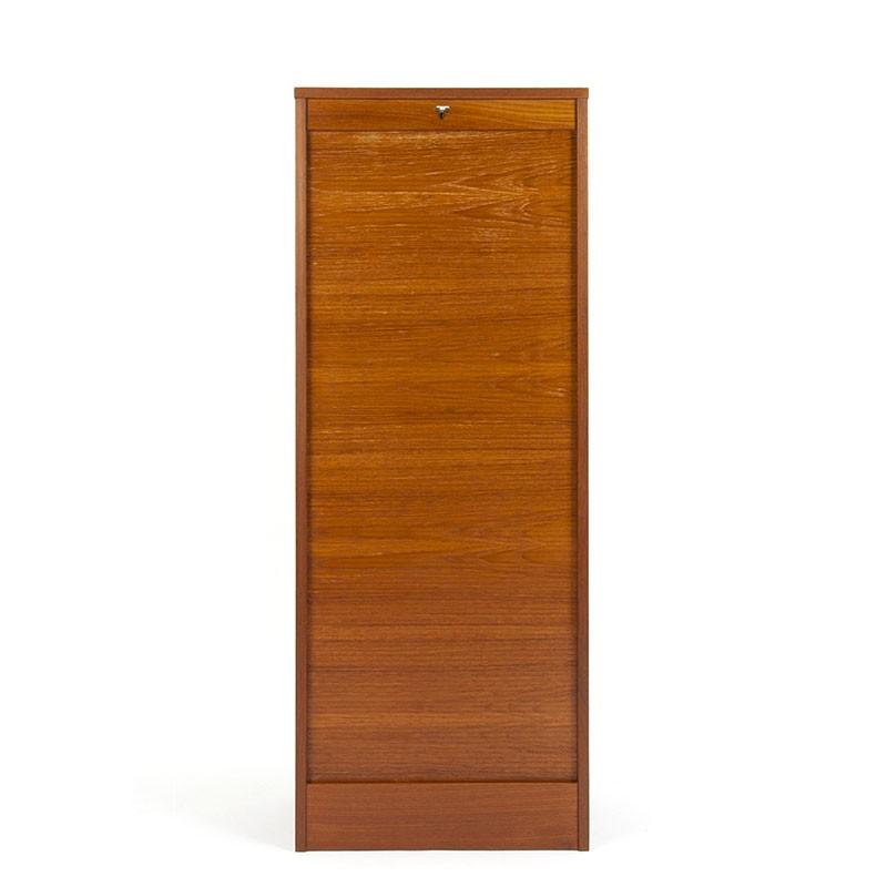 Teak Danish fifties filing cabinet narrow/high model