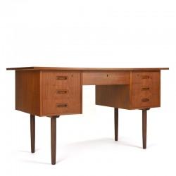 Danish vintage desk in teak from the sixties
