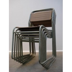 """Bruno Pollock """"Stacking chairs"""" set of 6"""