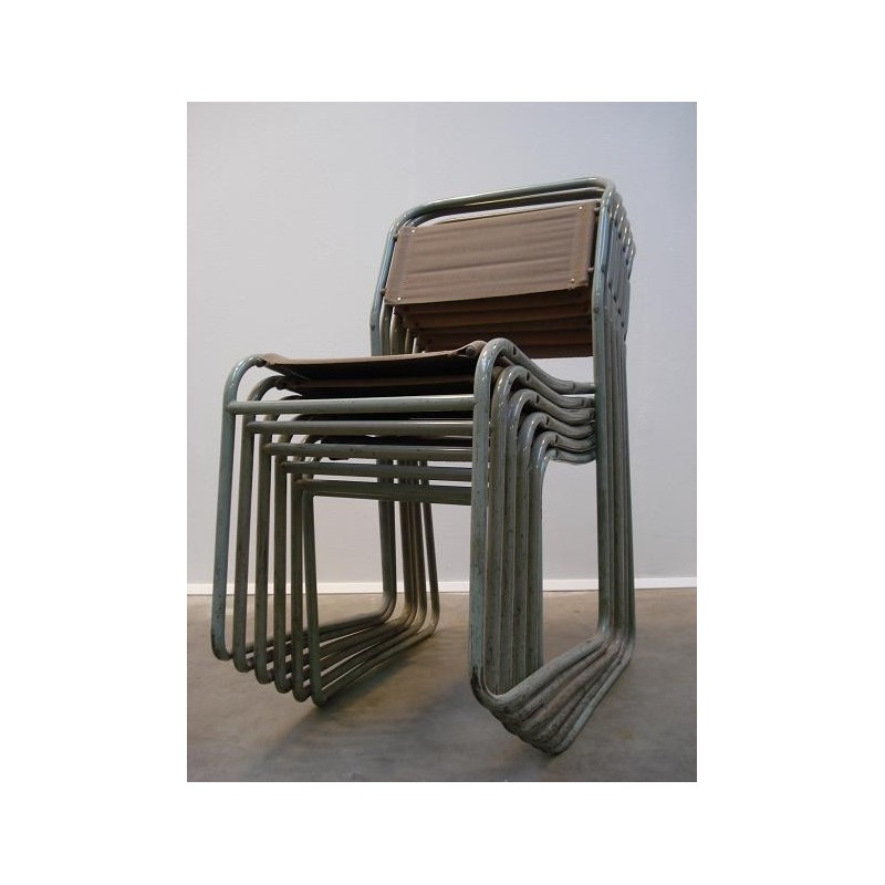 "Bruno Pollock ""Stacking chairs"" set of 6"