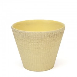 Yellow small vintage flower pot from ADCO
