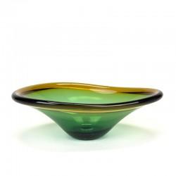 Sommerso glazen vintage schaal
