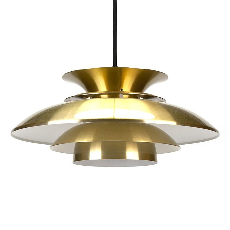 Brass colored Danish vintage hanging lamp