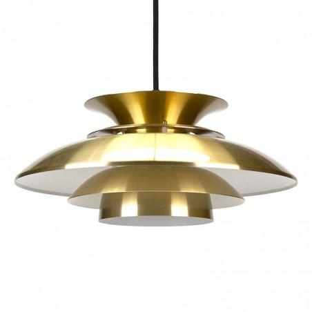 Messing kleurige Deense vintage hanglamp
