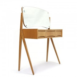 Danish vintage oak dressing table design Arne Vodder