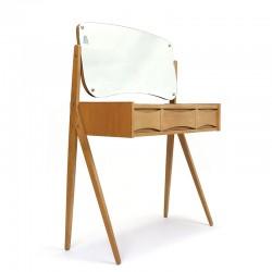 Deense vintage eiken kaptafel design Arne Vodder