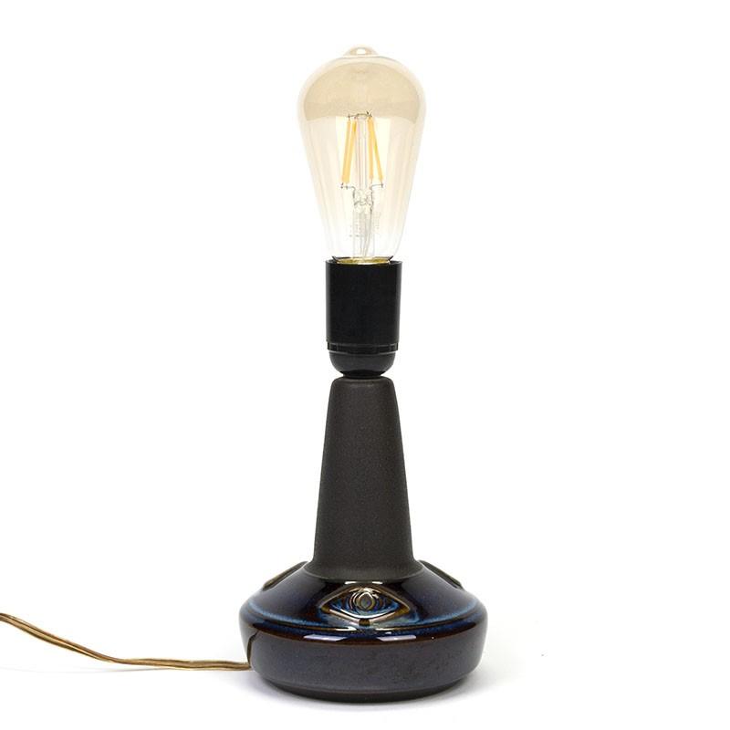 Keramiek vintage tafellamp van Søholm design Einar Johansen