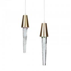 Set of 2 vintage Icicle pendant lamps design Atelje Engberg