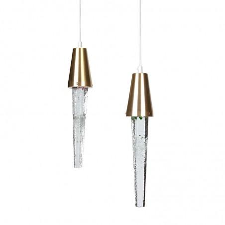 Set van 2 vintage Ijspegel hanglampen design Atelje Engberg