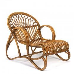 Rotan vintage fauteuil/ lounge stoel