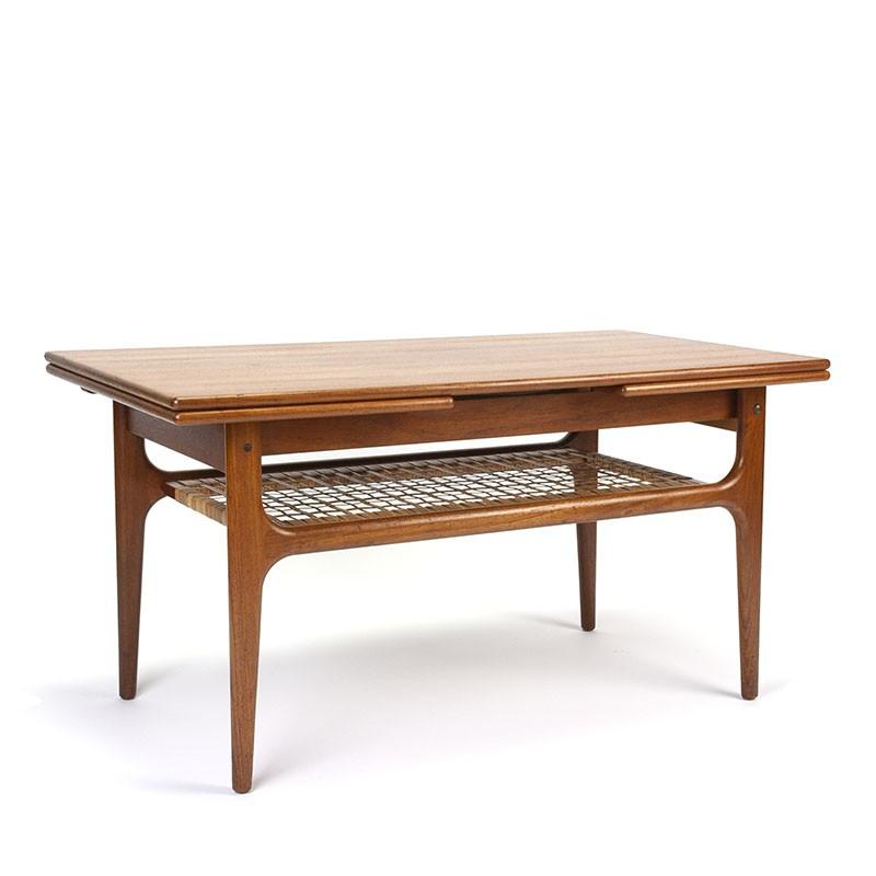 Deense uitschuifbare vintage salontafel van Trioh Møbler