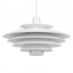 White vintage model Danish hanging lamp