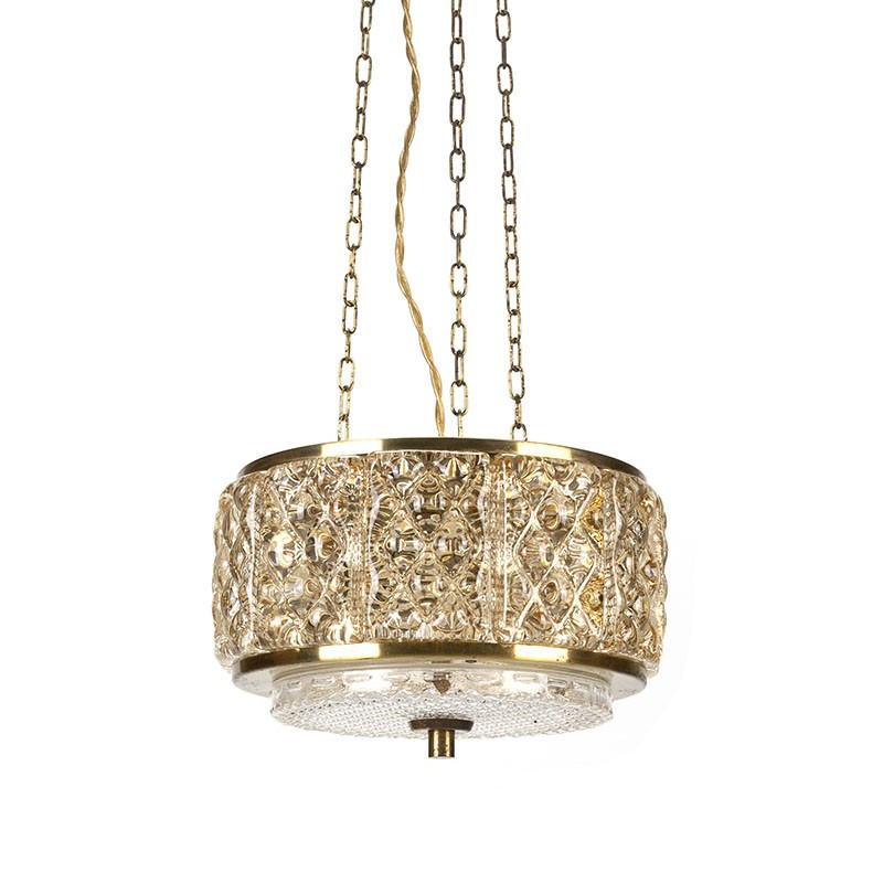 Danish vintage Vitrika Gallapendel hanging lamp