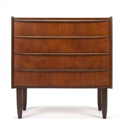 Teak Danish vintage chest of drawers with long handle