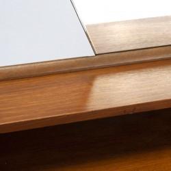 Vintage teak dressing table with large mirror