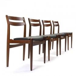 Set vintage design stoelen ontwerp Henning Kjaernulf