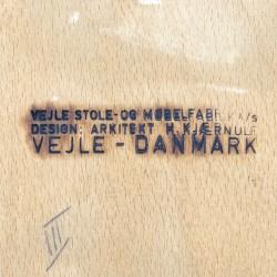 Set of vintage design chairs design Henning Kjaernulf