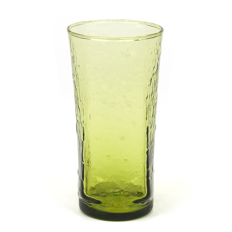 Finnish vintage glass green vase