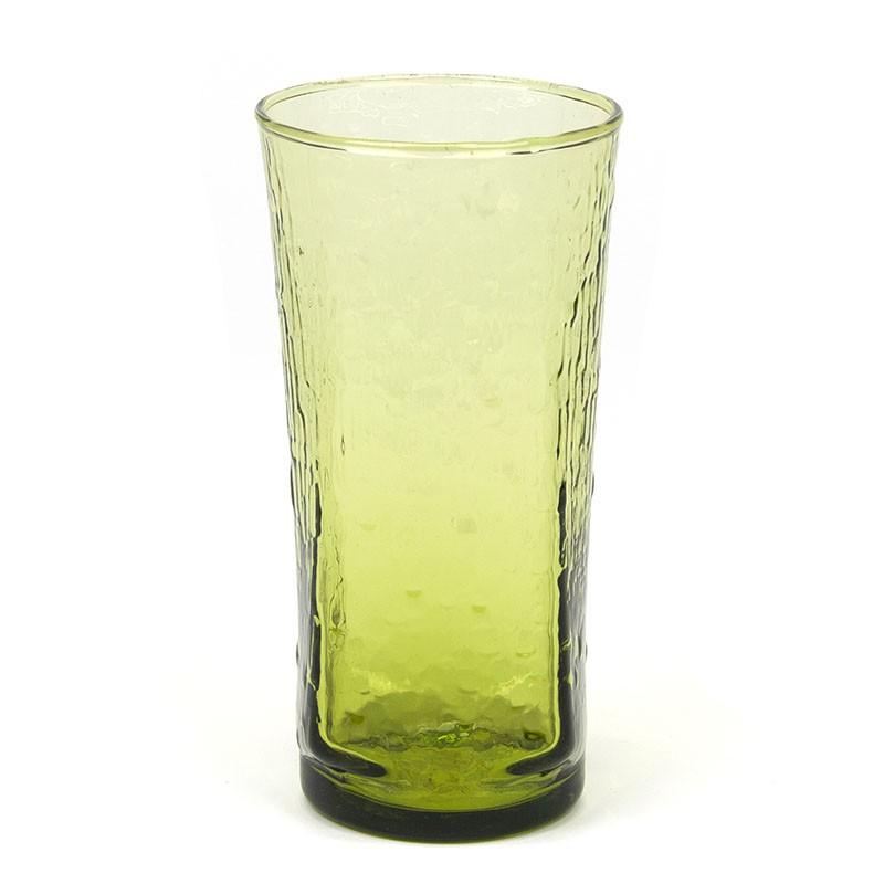 Fins vintage glazen groene vaas