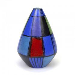 Vintage ceramic vase in primary colours