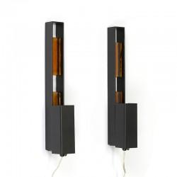 Set of 2 vintage minimalist Danish wall lamps