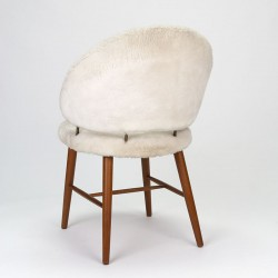 Vintage Danish chair with plush upholstery