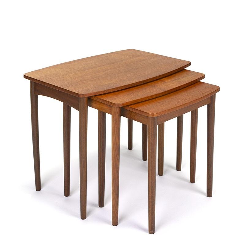 Danish vintage nesting tables set of 3 in teak