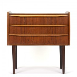 Small Danish vintage chest of drawers with long handle