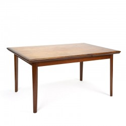 Danish vintage teak extendable dining table from the sixties