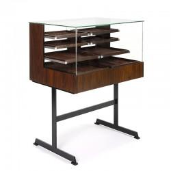 Vintage design display cabinet with rosewood