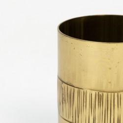 Brass vintage handmade small vase