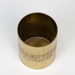 Messing vintage handgemaakt klein vaasje