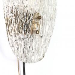 Glazen vintage design wandlamp vijftiger jaren