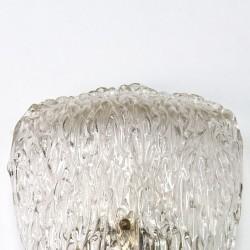 Glass vintage design wall lamp fifties