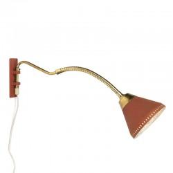 Vijftiger jaren vintage wandlamp met flexibele arm