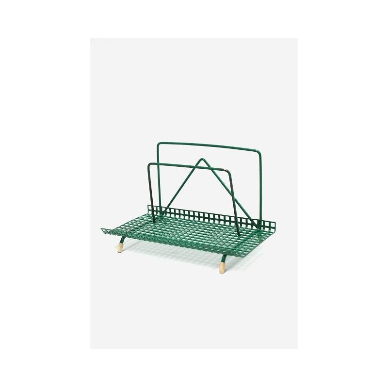 Mail holder perforated metal green