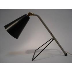 Tablelamp grey/black 1950s