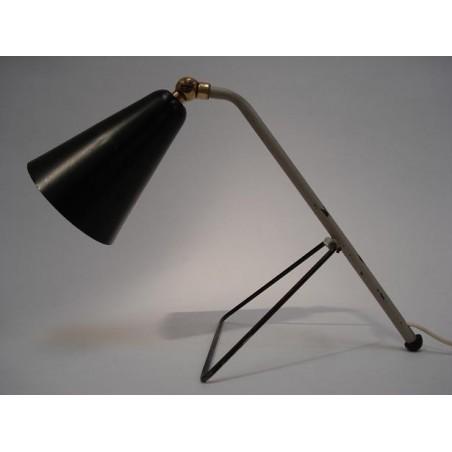 Tafellamp grijs/zwart jaren 50