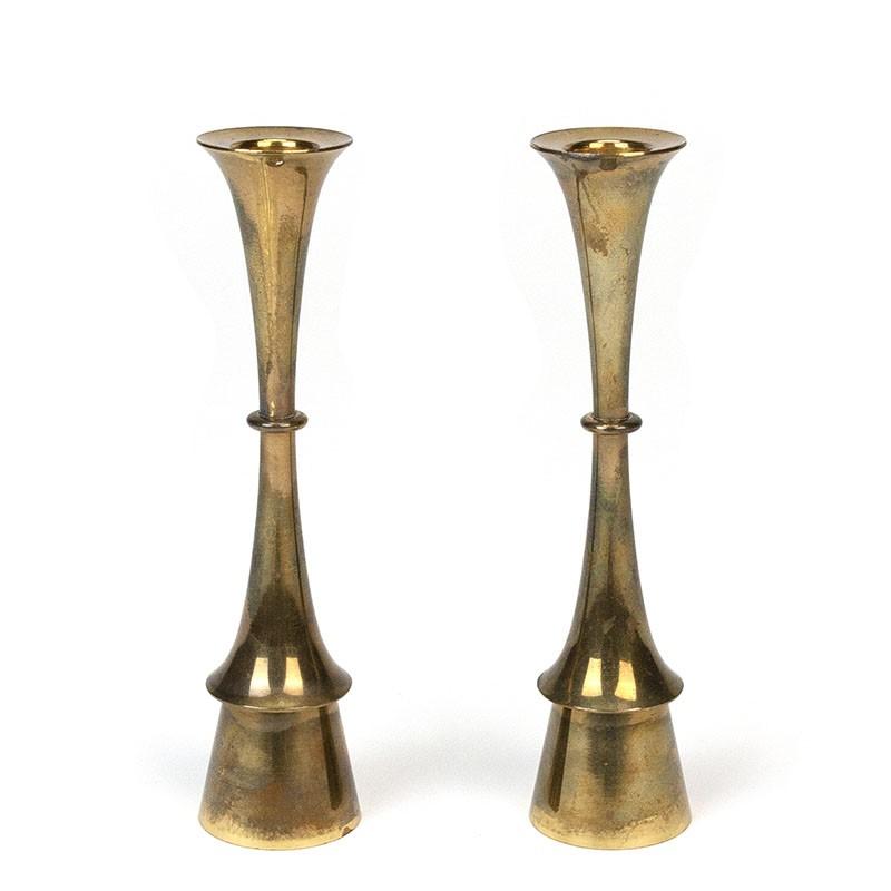 Vintage set of 2 Hyslop candlesticks