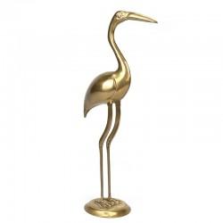 Brass vintage XL crane bird