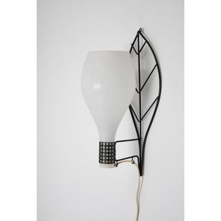 Glazen wandlamp met blad vorm