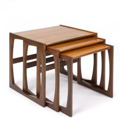 Vintage Gplan set of 3 nesting tables in teak
