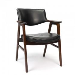 Palissander vintage bureaustoel design Erik Kirkegaard
