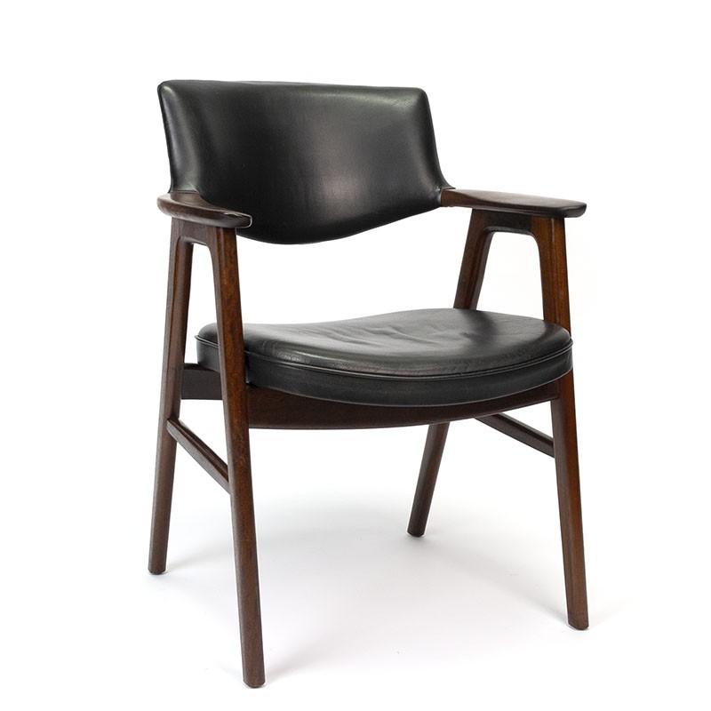 Rosewood vintage office chair design Erik Kirkegaard