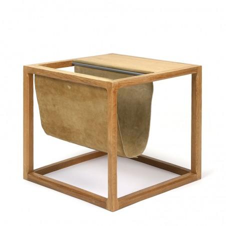 Danish Aksel Kjersgaard side table with newspaper rack in oak