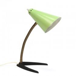 Vintage groene tafellamp vijftiger jaren