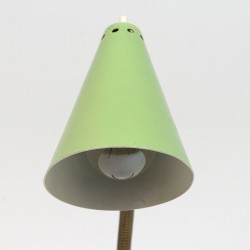 Vintage green table lamp fifties