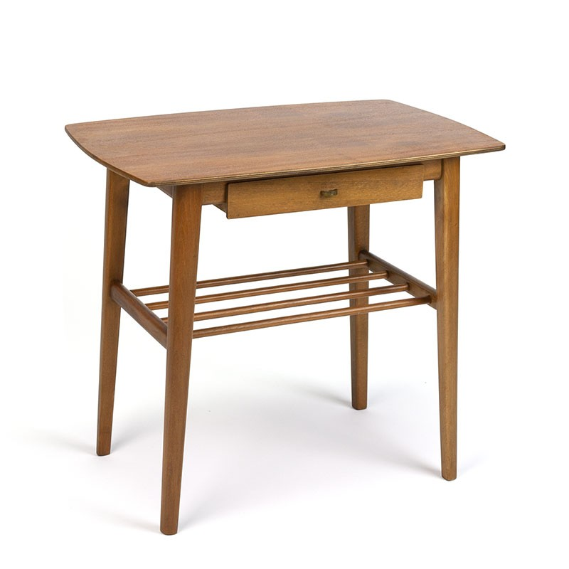 Side table with small drawer Danish vintage sixties