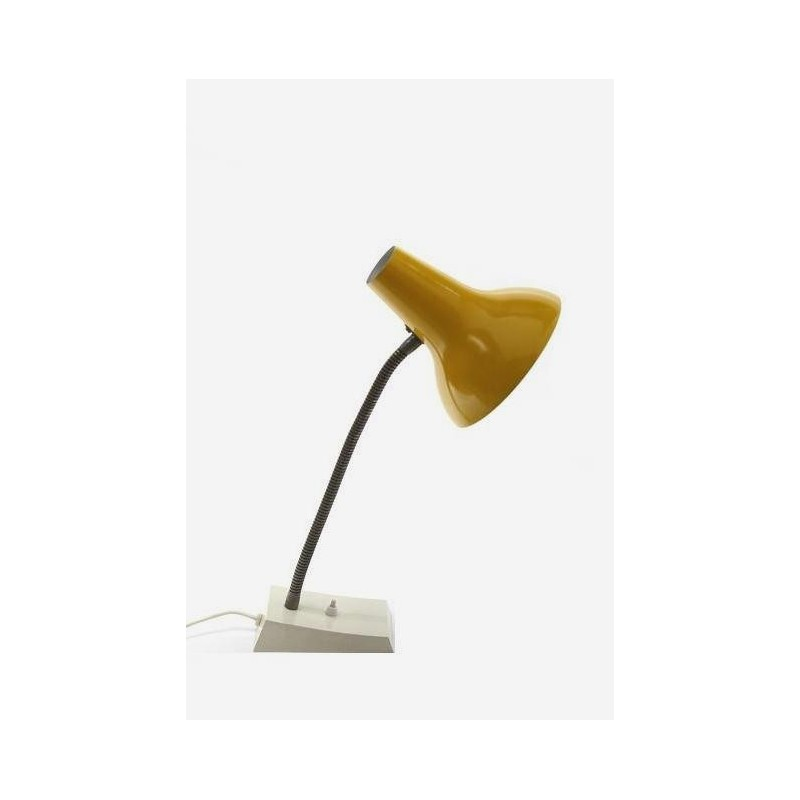 Desklamp with yellow shade